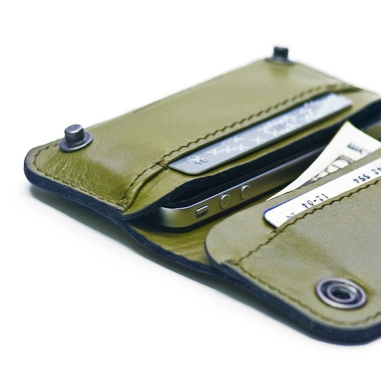 leather wallet that fits an iphone4 $94