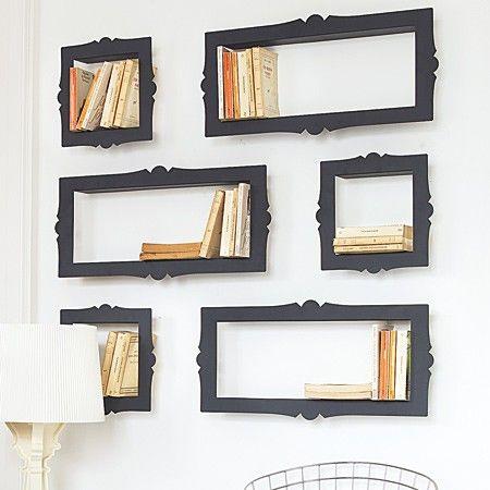 picture frame bookshelves
