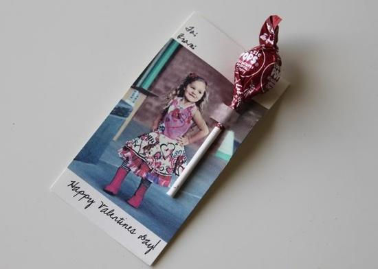 handmade valentine card for kids in school