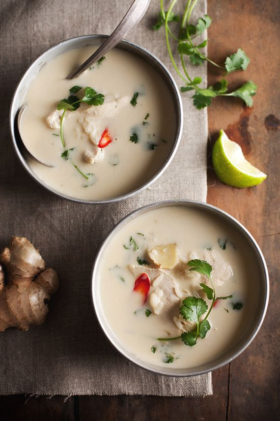 Thai chicken with coconut soup by à la mode and Food and Wine  //  FOXINTHEPINE.COM