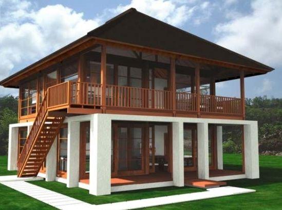 21 Ide Rumah Panggung Rumah Rumah Kayu Arsitektur