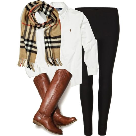Cuuute && casual. I already have the scarf and similar boots. I guarantee this will be a fall outfit ;-)