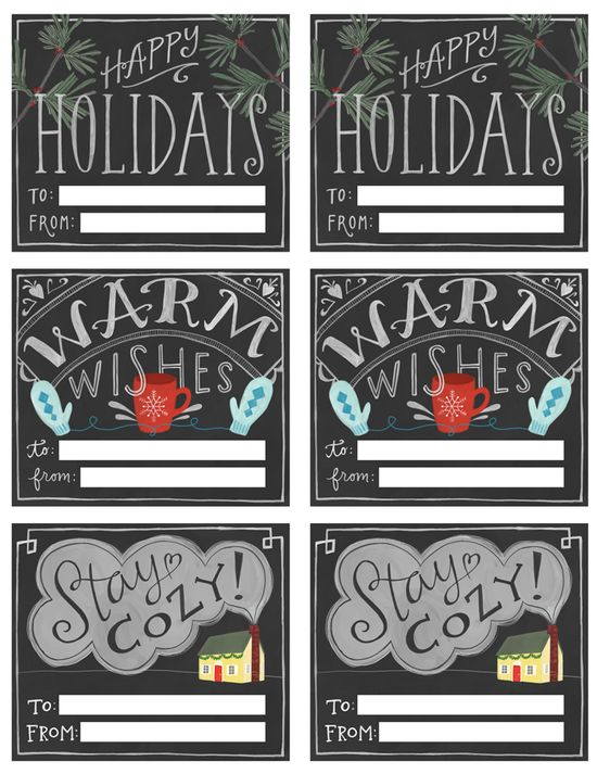 Free Chalkboard-Style Printable Gift Tags