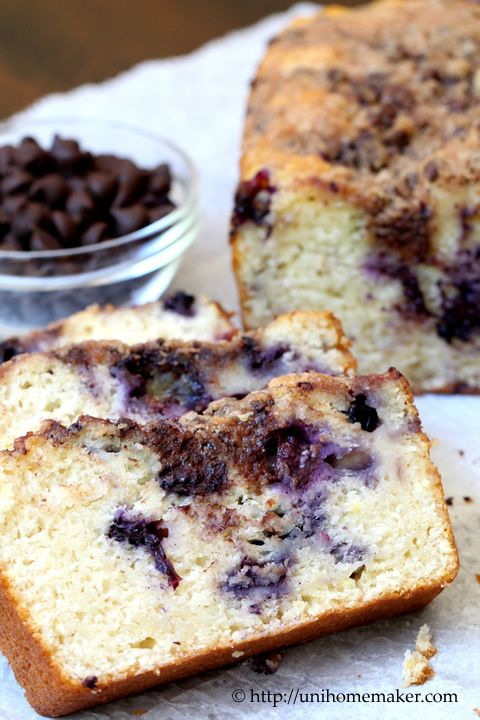 Blueberry Chocolate Streusel Bread
