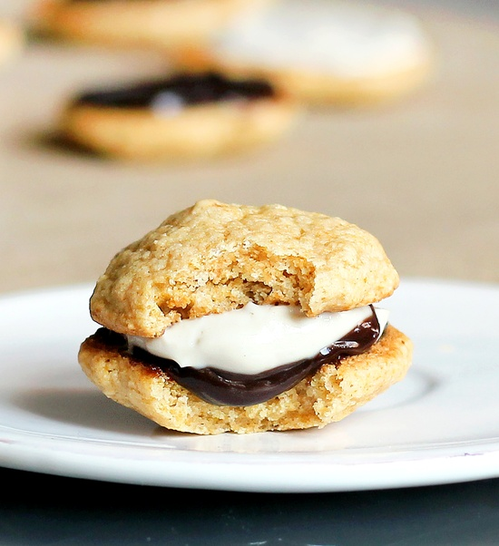S'mores Whoopie Pies (guilt-free!). You know you want one...