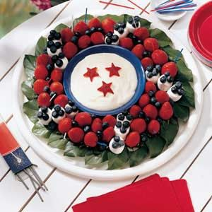 Sweet Liberty Fruit Wreath Recipe...interesting dip, can be used for many fruits