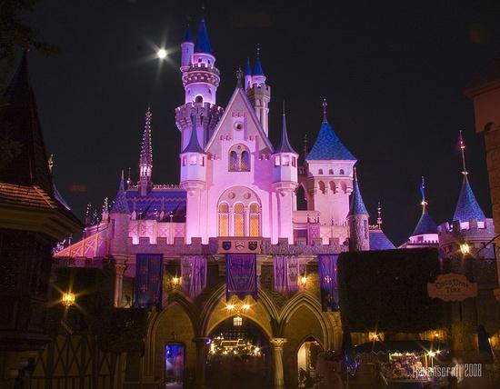 The back of Sleeping Beauty's Castle