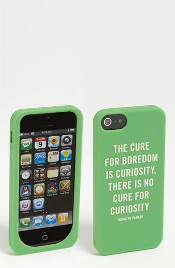 kate spade new york 'curiosity quote' iPhone 5 case available at #Nordstrom
