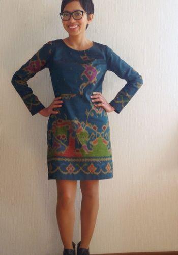 Beautiful fabric, beautiful dress! Ikat Sigma dress by Novita.