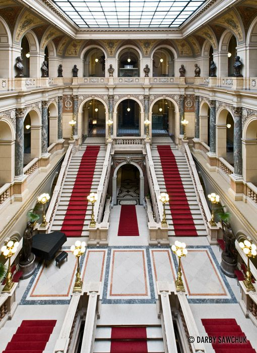 The interior of the National Museum in Prague, Czech Republic