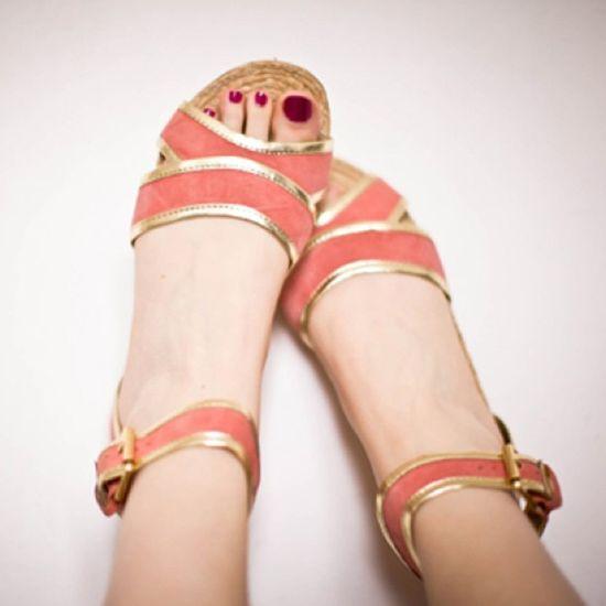 Peach & Gold #shoes