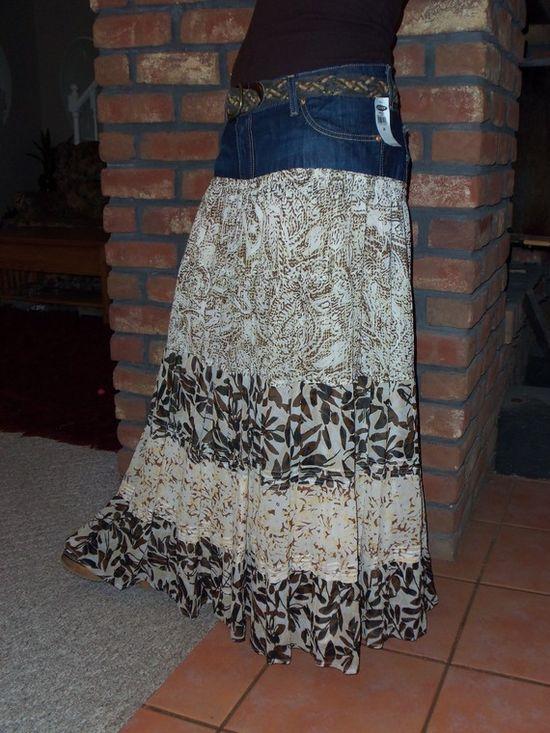 Custom Jean Skirts