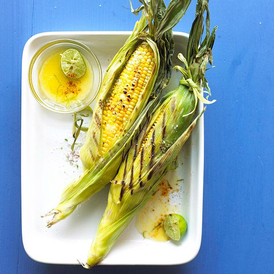 Chile powder, lime salt, and fresh lime juice add fresh summer flavor to this Margarita Grilled Corn. Recipe: www.bhg.com/...