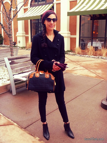 Sunday LookBook with Glass Handbag