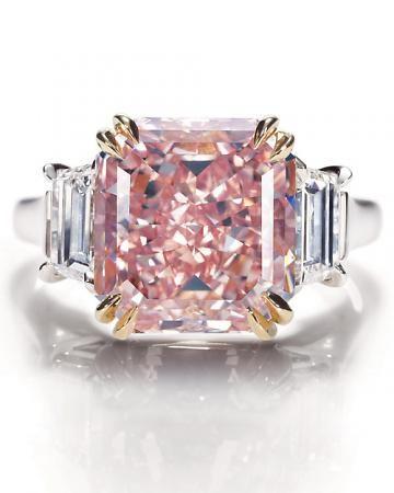 Rare pink diamond from Harry Winston