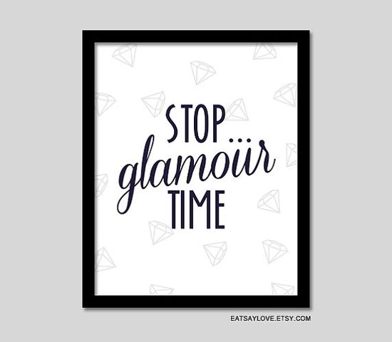 girly bathroom decor diamonds glamour art vanity art by EatSayLove