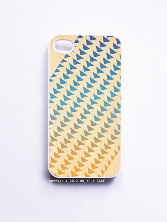 Wood Grain Geometric Angle Twilight #iPhone 4 case