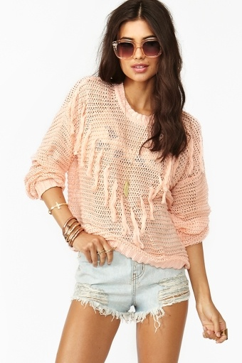 Fringed Knit