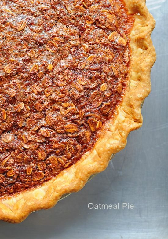 Oatmeal Pie is a perfect side kick (or substitute) for Pecan Pie.