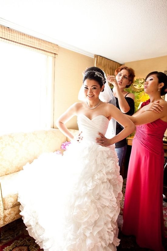 Wedding Dress Inspired by Sunday Rose by bridalblissdesigns. $898.00, via Etsy.
