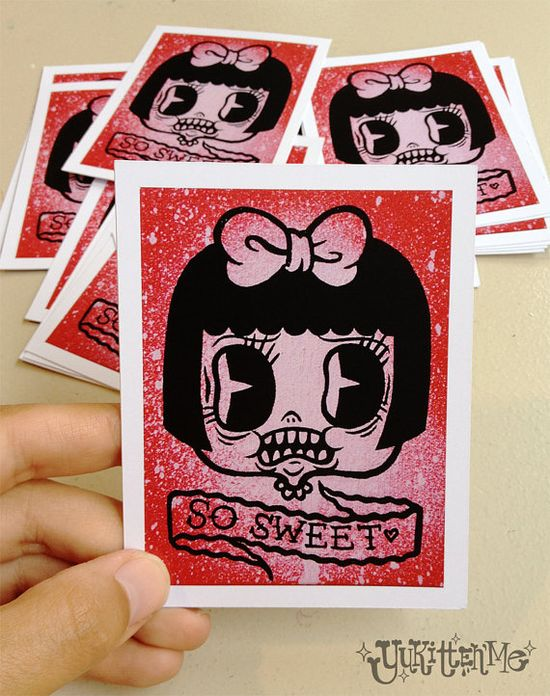 So Sweet Print by Yukittenme on Etsy
