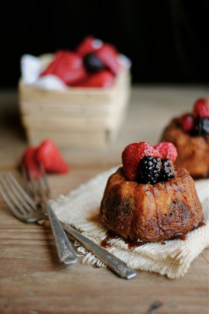 Mini Fruit & Chocolate Bundt Cakes