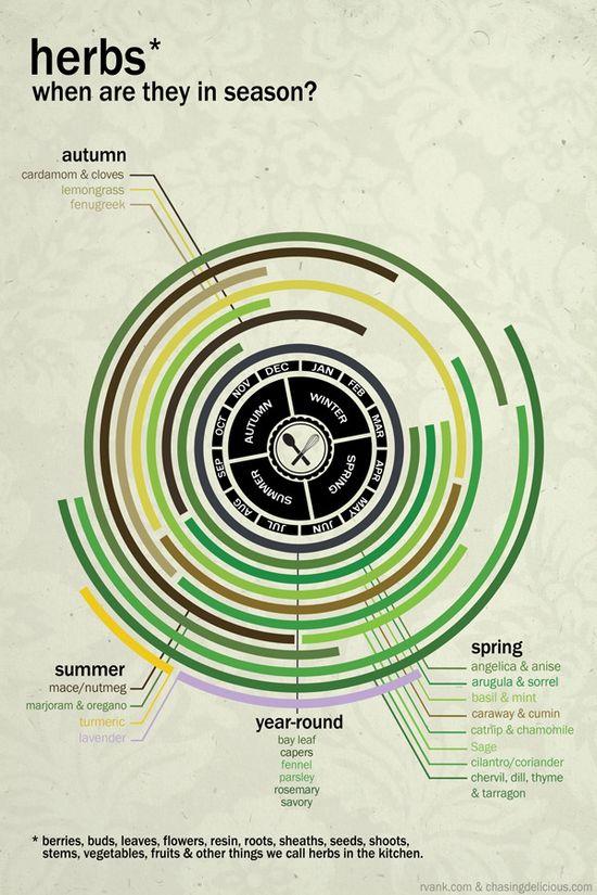 Seasonal Herb Calendar by Chasing Delicious