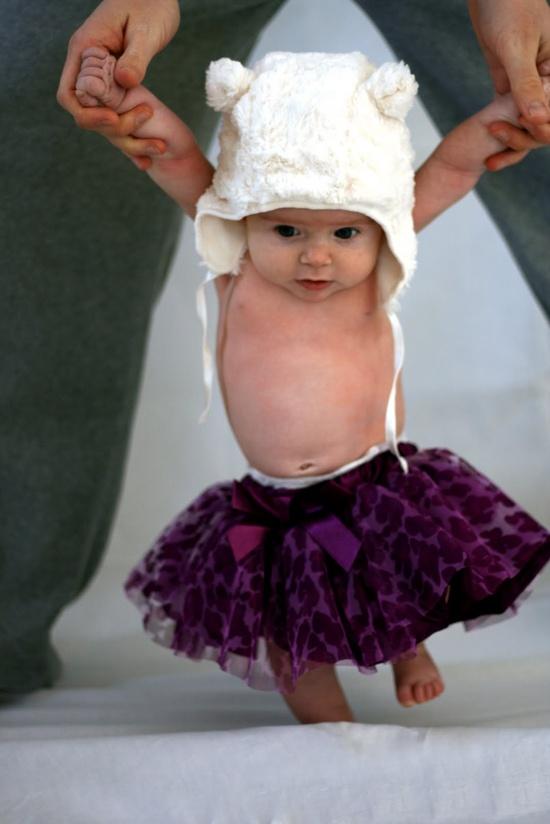 3 month photo - teddy bear ballerina :)