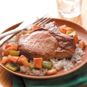 Sweet Potato Pork Skillet Recipe from Taste of Home