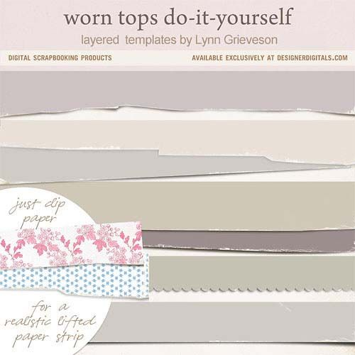 Worn Tops Do-it-Yourself - Digital Scrapbooking Templates DesignerDigitals