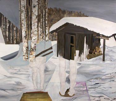 "Saatchi Art Artist Lewis Hammond; Painting, ""Snowy Landscape Painting"" #art"
