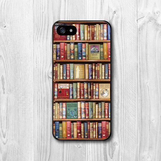 Want this, wish I had an iPhone... Bookshelf iPhone 5 Case iPhone 5 hard case Book Lovers by CasePapa