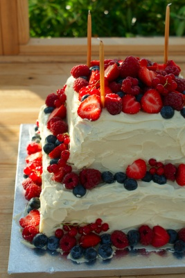 Summer Fruit & White Chocolate Layer Cake