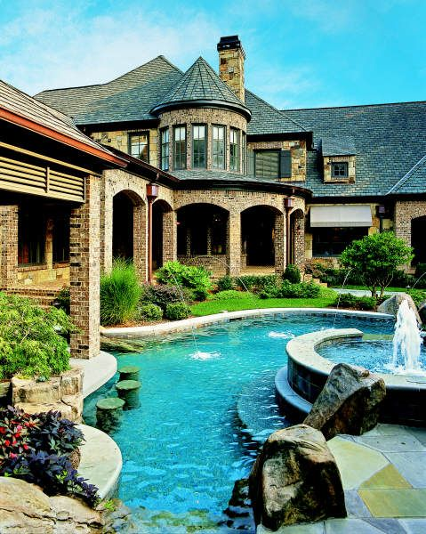Lazy river around the house...now that is a dream space