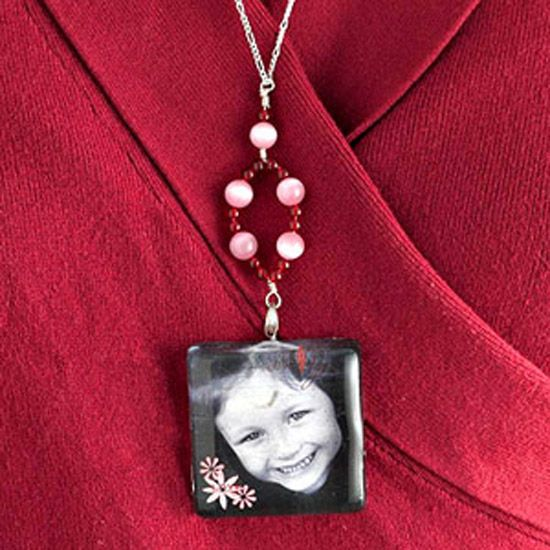 Beaded Picture Frame Necklace