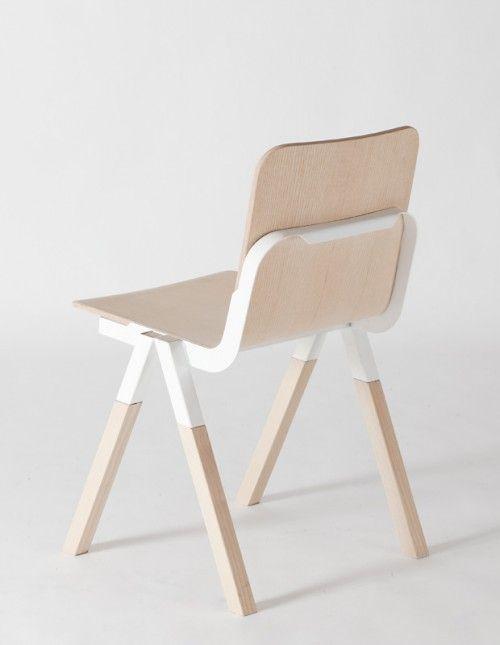 Handle #Chair by Peter Johansen #Minimal #Furniture #Design