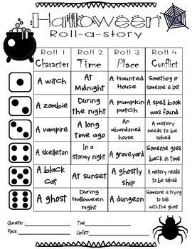 Halloween Roll-a-story