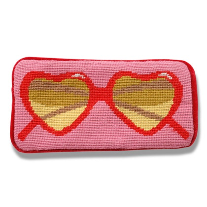 pink heart sunglasses case
