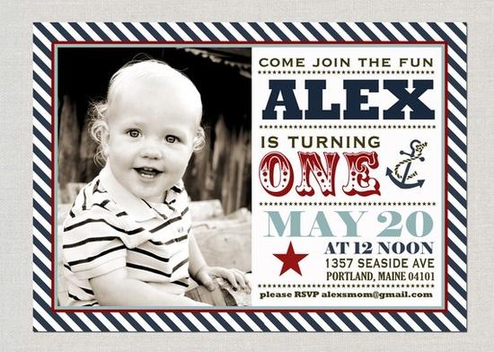 #birthday #party #invitation #nautical