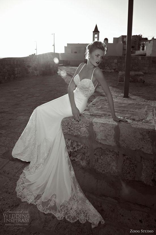 zoog bridal studio 2013 wedding dress spaghetti straps