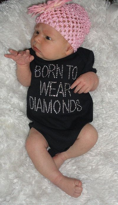 """born to wear diamonds"" I might not have a baby, but I'd wear this :)"