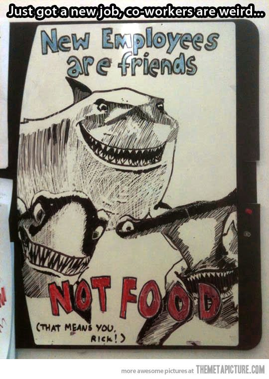 Newbies are friends, not food!