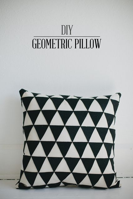 DIY geometric pillow by Vanilla and lace