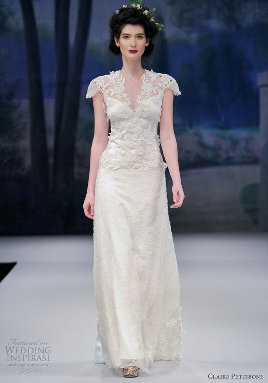 claire pettibone 2012 wedding dress collection