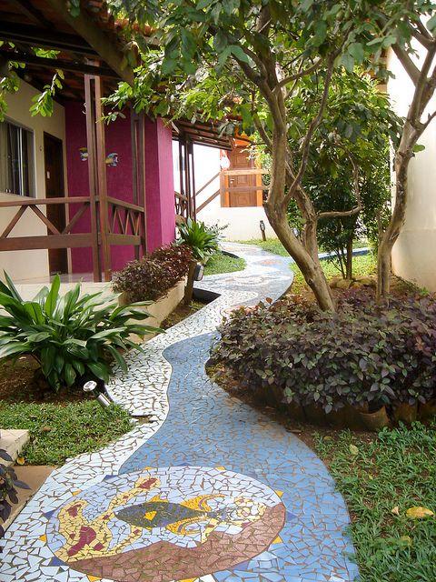 A guesthouse on the island of Fernando de Noronha, Brazil
