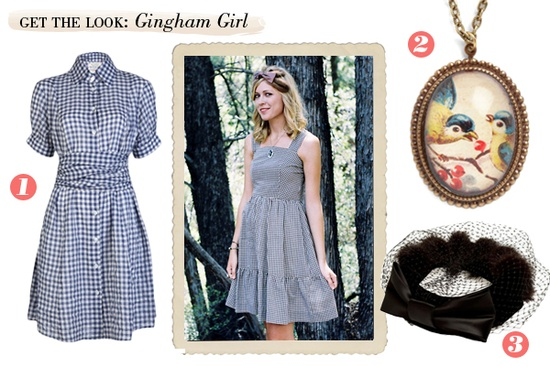Gingham girl vintage style