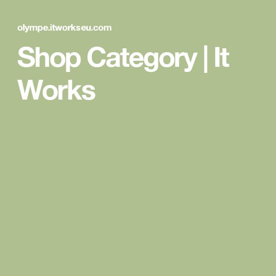 Shop Category | It W
