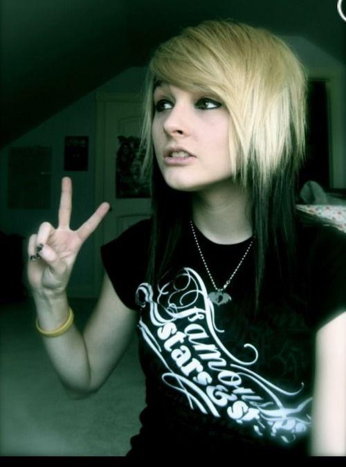 #blonde & #black #dyed #hair #pretty