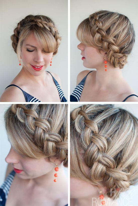 Hair Romance - 30 braids 30 days - 17 - Dutch crown braid