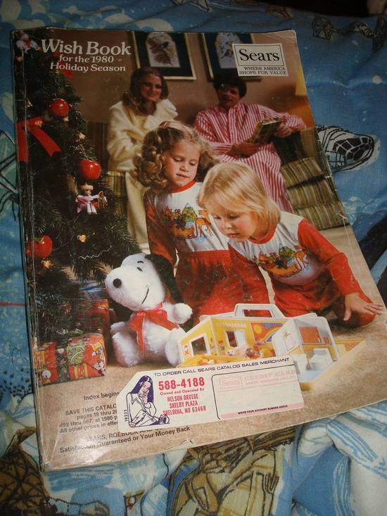 Through the 70s until the mid 80s, my mom ordered all my school clothes from the Sears catalog. I picked out toys for my Xmas list each year from the Wish Book. So much fun.